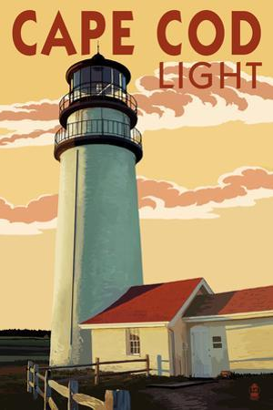 Cape Cod, Massachusetts - Cape Cod Lighthouse by Lantern Press