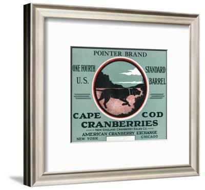 Cape Cod, Massachusetts - Pointer Brand Cranberry Label