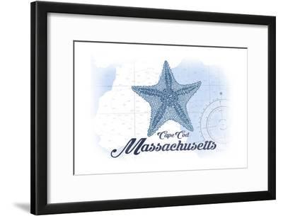 Cape Cod, Massachusetts - Starfish - Blue - Coastal Icon