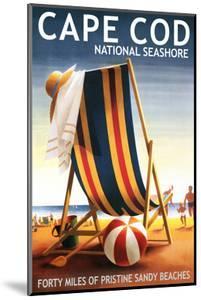 Cape Cod National Seashore - Beach Chair and Ball by Lantern Press