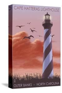 Cape Hatteras Lighthouse - North Carolina - Sunrise by Lantern Press
