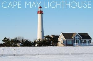 Cape May, New Jersey - Lighthouse in Winter by Lantern Press