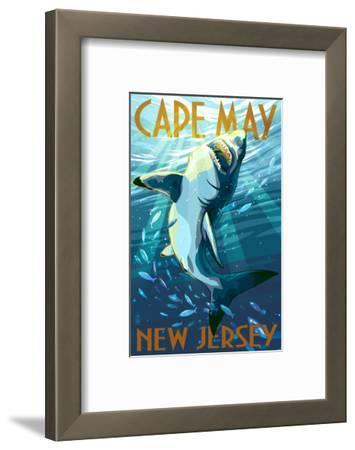 Cape May, New Jersey - Stylized Shark