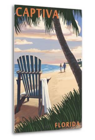 Captiva, Florida - Adirondack Chair on the Beach