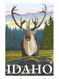 Caribou in the Wild, Idaho by Lantern Press