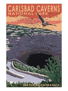 Carlsbad Caverns National Park, New Mexico - Natural Entrance by Lantern Press