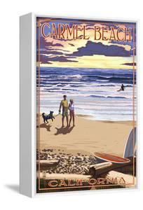Carmel Beach, California - Sunset Beach Scene by Lantern Press