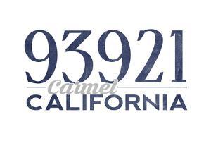Carmel, California - 93921 Zip Code (Blue) by Lantern Press