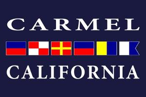 Carmel, California - Nautical Flags by Lantern Press