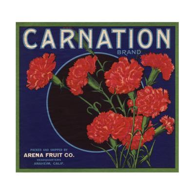 Carnation Brand - Anaheim, California - Citrus Crate Label