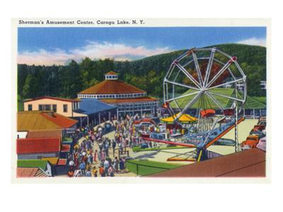 Caroga Lake, New York - Sherman's Amusement Center View