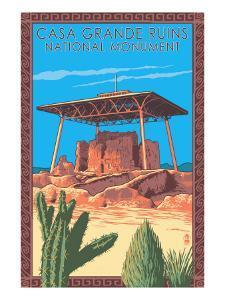 Casa Grande Ruins National Monument - Arizona by Lantern Press