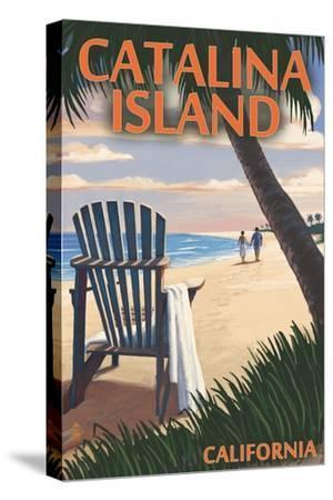Catalina Island, California - Adirondack Chairs and Sunset