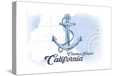Catalina Island, California - Anchor - Blue - Coastal Icon