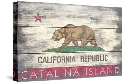 Catalina Island, California - Barnwood State Flag