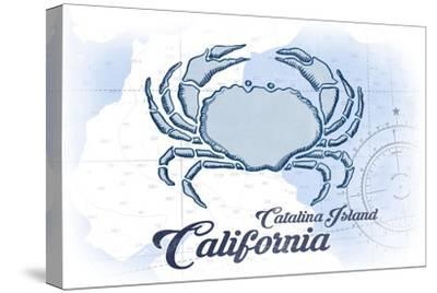 Catalina Island, California - Crab - Blue - Coastal Icon