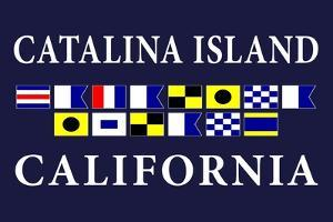 Catalina Island, California - Nautical Flags by Lantern Press