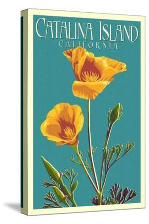 Catalina Island, California - Poppy - Letterpress