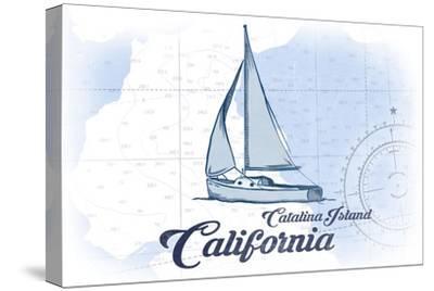 Catalina Island, California - Sailboat - Blue - Coastal Icon