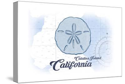 Catalina Island, California - Sand Dollar - Blue - Coastal Icon