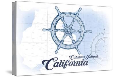 Catalina Island, California - Ship Wheel - Blue - Coastal Icon