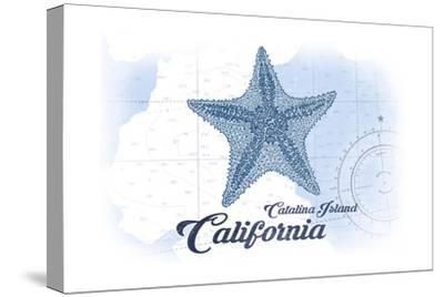 Catalina Island, California - Starfish - Blue - Coastal Icon