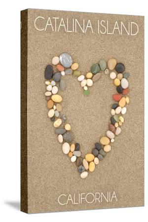 Catalina Island, California - Stone Heart on Sand