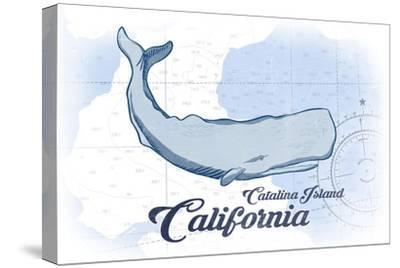 Catalina Island, California - Whale - Blue - Coastal Icon