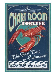 Cataumet, Cape Cod, Massachusetts - Chart Room Lobster by Lantern Press