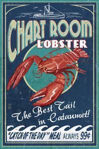 Cataumet, Cape Cod, Massachusetts - Chart Room Lobster by Lantern Press