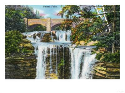 Catskill Mountains, New York - View of Haines Falls by Lantern Press