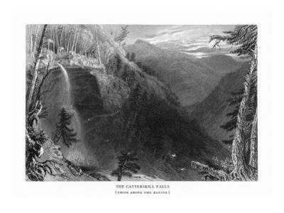 Catskill Mountains, New York, View of Kaaterskill Falls from above the Ravine by Lantern Press