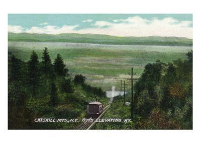 Catskill Mountains, New York - View of Otis Elevating Railway by Lantern Press