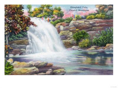 Catskill Mountains, New York - View of Shinglekill Falls by Lantern Press