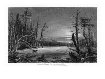 Catskill Mountains, New York, Winter Scene above the Kaaterskill Falls by Lantern Press