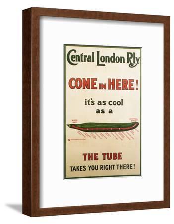 Central London Underground Railway - Cucumber Vintage Poster