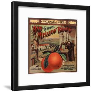 Chapmans Old Mission Brand - Covina, California - Citrus Crate Label by Lantern Press