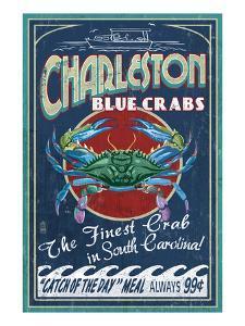 Charleston, South Carolina - Blue Crabs by Lantern Press