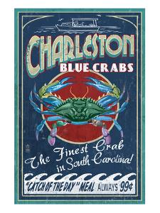 Charleston, South Carolina - Blue Crabs by Lantern Press