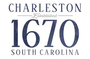 Charleston, South Carolina - Established Date (Blue) by Lantern Press