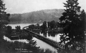 Chatcolet, Idaho - Oregon and Northwestern Railroad Bridge by Lantern Press