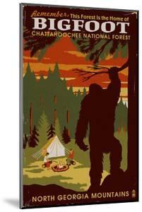 Chattahoochee National Forest, Georgia - Home of Bigfoot by Lantern Press