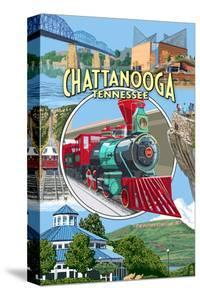Chattanooga, Tennessee - Montage Scenes by Lantern Press