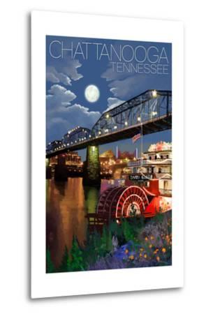 Chattanooga, Tennessee - Skyline at Night
