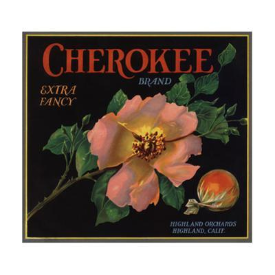 Cherokee Brand - Highland, California - Citrus Crate Label by Lantern Press
