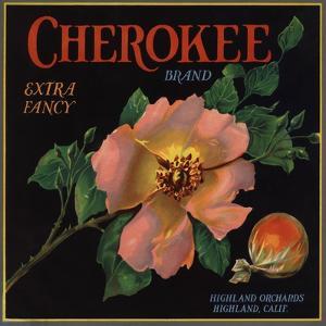 Cherokee Brand - Highland, California - Citrus Crate Label by Lantern Press