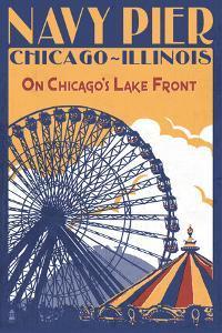 Chicago Illinois - Navy Pier by Lantern Press