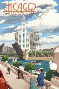 Chicago, Illinois - River View by Lantern Press