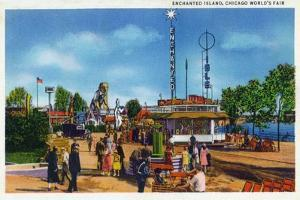 Chicago, Illinois - Worlds Fair; Enchanted Island Scene by Lantern Press