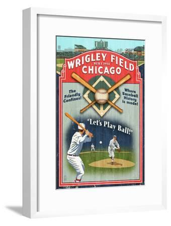 Chicago, Illinois - Wrigley Field Vintage Sign